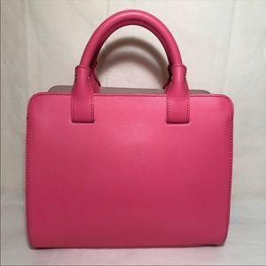 Vittoria Napoli Pink Leather Satchel Leather Bag